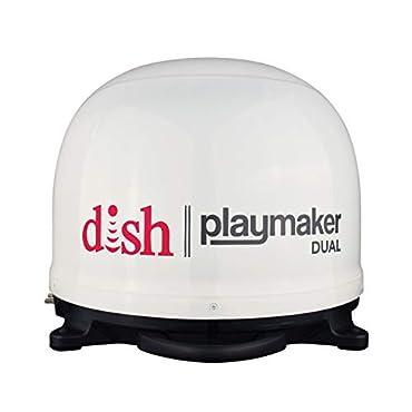 Winegard PL-8000 Dish Playmaker Dual Gen2 Portable Satellite Tv Antenna White