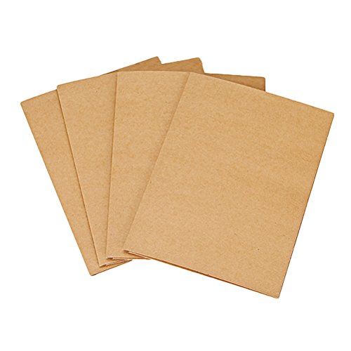 NUOLUX 12Pcs A4 Kraft Paper File Folder Brown Card Folder 2 Pockets Document Folder Office Project File Presentation Folder