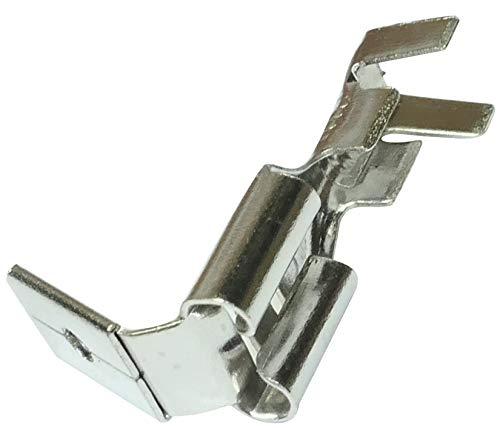 AERZETIX: 100x Capicorda terminale elettrici maschio/femmina piatta 6.3mm 0.8mm 1.5...2.5mm² C11329