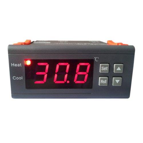 SODIAL(R) 12V Digitale LCD Anzeige Temperaturregler Thermostat mit Sensor MH1210A