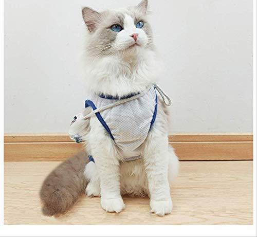 ZHAOYAN Großer weißer Kaninchen Katze Kleidung süß Milk Zucker Rucksack Puppe Katze Netz rot Haustier Kostüm