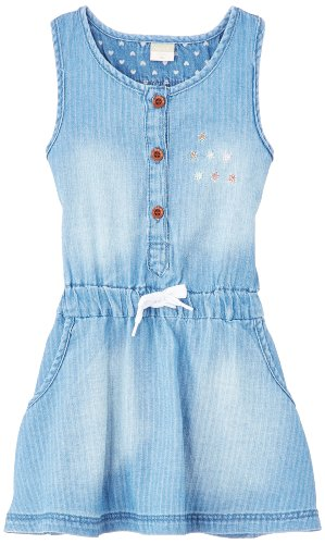 Name It Alyssa Mini DNM Dress 214, Robe Bébé Fille, Bleu (Light Blue Denim), FR: 18 Mois (Taille Fabricant: 80)