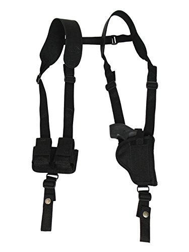Barsony New Vertical Shoulder Holster w/Speed-Loader Pouch for EAA WINDICATOR Left