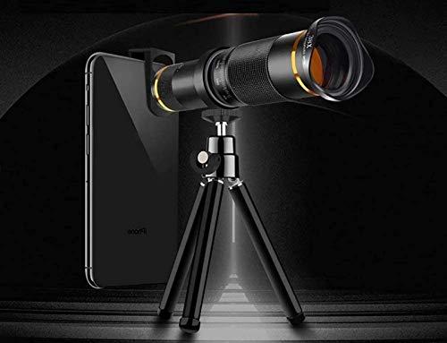 JJDSN Lente telefoto con Zoom 38X Telescopio monocular HD Lente de cámara de teléfono para teléfono Inteligente Zoom telefoto con Adaptador para teléfono Inteligente Trípode para observación de AV