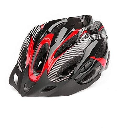 SFBBBO Casco Bicicleta Casco de Ciclismo Ultraligero para Exteriores, Mujeres, Hombres, Casco de Bicicleta, Bicicleta de montaña, Ciclismo de Carretera, Seguridad, Rojo