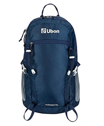 Ubon Mochila de Senderismo Mochila de Viaje Ligera de 25 l para Hombres Mujeres y Adolescentes Azul 25L