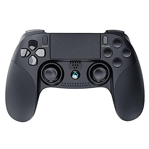 ELYCO Manette pour PS4, Bluetooth Wireless Joystick sans Fil Gamepad, Dual Vibrations Manette Contrôleur de Jeu avec écran Tactile et Axe Gyroscopique