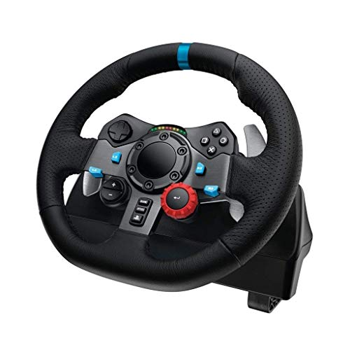 WSMLA RS Racing Wheel for Playstation4 3 et PC Wheel, Jeu de Volant, Driving Force Racing Volant et pédales (PS4 / PS3 et PC)