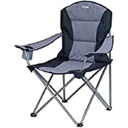 Vango Goliath Padded Camping Chair - Smoke/Black, X-Large