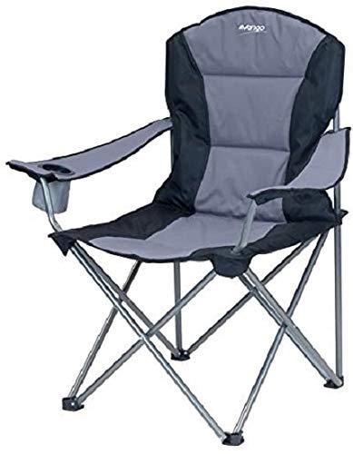 Vango Goliath Padded Camping Chair - Smoke/Black, X-Large [Amazon Exclusive]