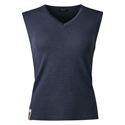 agon Damen Sommer-Merino Pullunder - ärmelloser Strick-Pullover mit V-Ausschnitt aus Biella Merino-Wolle mit UV-Schutz, Made in EU Marine 42/XL