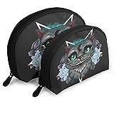 XCNGG Bolsa de almacenamiento Cheshire Cat Bolsa de aseo portátil Bolsa de maquillaje Bolsa de almacenamiento Estuche de cosméticos Bolsa de viaje impermeable Bolsa de viaje portátil multifunción con