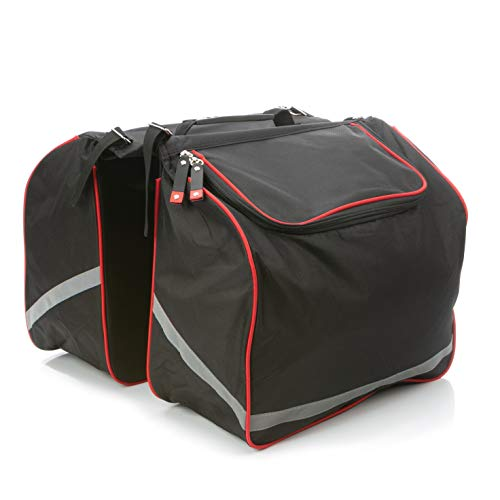 BYKA Fahrradtasche Gepäckträger Reißfest 34L Großes Fassungsvermögen Robuste Gepäckträgertasche Für Fahrrad Mit Tragegriff, Leicht Verstellbar, Ideal Für Den Ausflug Radtour oder den Einkauf