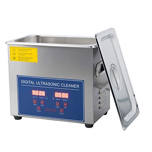 Valens 3L Limpiador Ultrasónico Digital 120W Limpiador Ultrasónico con Temporizador Digital de Acero Inoxidable para Joyas Gafas Anillos (3L)