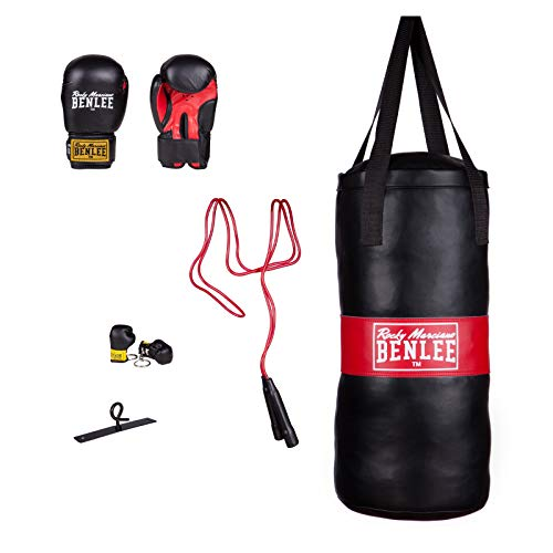 BENLEE Rocky Marciano Kinder Boxing Bag Set Punchy Boxsack, Schwarz, One size