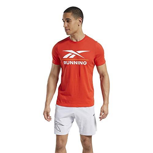 Reebok Running tee Camiseta, Hombre, insred, L