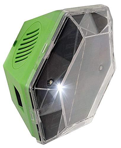 Scaccia Piccioni ad Ultrasuoni Continui - Copre 360 Gradi - a Energia Solare - Impermeabile - per Superfici Piccole Piane, Soleggiate, Senza 220V -Tiene Lontani Piccioni ed Uccelli da Tetti e Balconi
