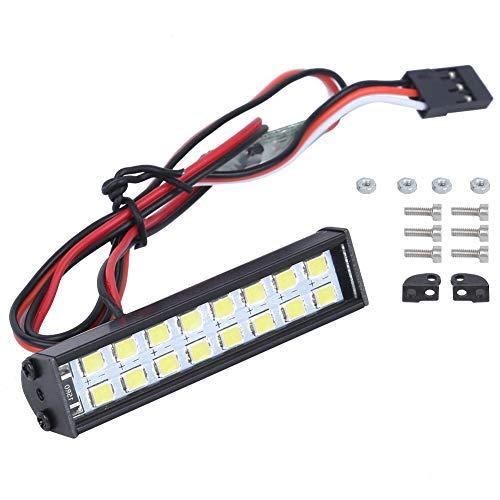 VGEBY RC LED Lichtleiste, 16 Stück RC Dachleuchte Lampenperlen RC Auto Dachlampe LED Lichtleiste Dachleuchte Kit Länge 55 mm RC Crawler LED Lichtleiste Zubehör