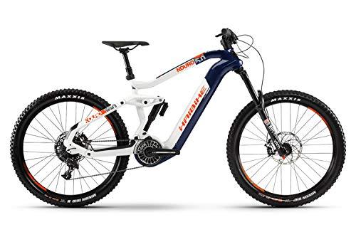 Haibike Xduro Nduro 5.0 Flyon 27.5'' Pedelec E-Bike MTB grau/weiß/blau 2019: Größe: L