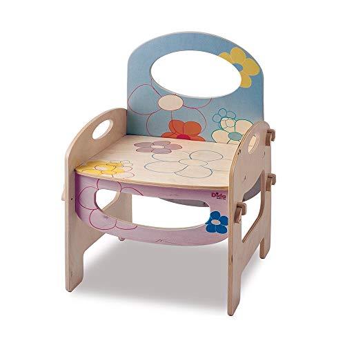 Dida - Kinderstuhl Mit Rückenlehne Und Armlehnen. Eine Sitzgelegenheit Für Das Kinderzimmer Und Den Kindergarten. Dekoration: Blumen