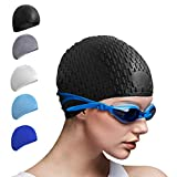 Tripsky Silicone Swim Cap,Comfortable Bathing Cap Ideal for Curly Short Medium Long Hair, Swimming Cap for Women and...