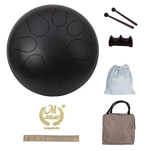 Muslady Pan Drum Stahl Tongue Drum Schlagzeug Instrument Hand mit Schlagzeug Schlägel Taschen Tragen Hinweis Sticks 10 Zoll