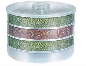 Figment Sprout Maker | Plastic Sprout Maker Box | Hygienic Sprout Maker with 4 Container | Organic Home Making Fresh Sprouts Beans for Living Healthy Life Sprout Maker 4 Bowl Sprout Maker for Home