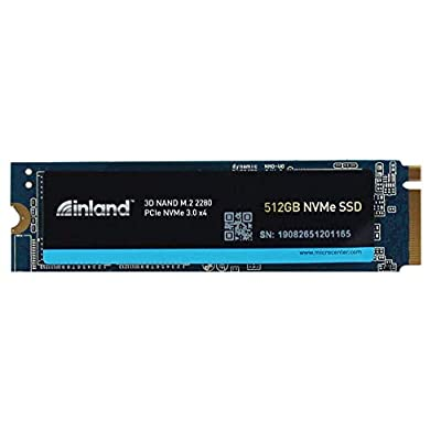 Inland Premium 512GB 3D NAND M.2 2280 PCIe NVMe 3.0 x4 Internal Solid State Drive