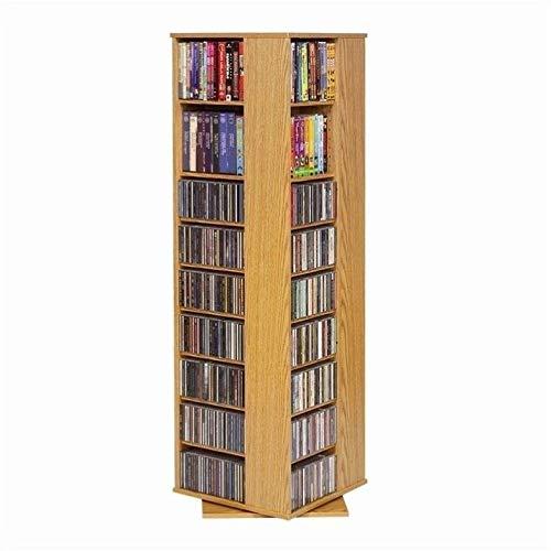 "Pemberly Row 62"" CD DVD Spinning Tower in Oak"