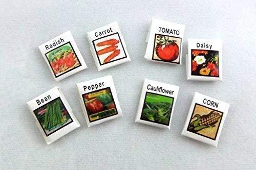 Melody Jane Poupées Miniature Accessoire Jardin 8 Fleur, Fruits & Légumes Graines Paquets
