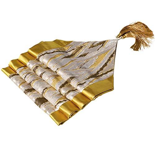 Caminos de mesa De Escritorio De Lujo Ligero Mesa De Café, Decoración De Escritorio De Mesa De Café Toalla De Bandera Larga Cuadrada Media (Color : Gold, Size : 45 * 230cm)