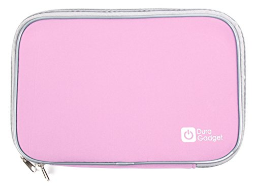 DURAGADGET Pink Water Resistant & Shock Absorbent Neoprene Sleeve with Dual Zips - Compatible with VTech Secret Safe Diary