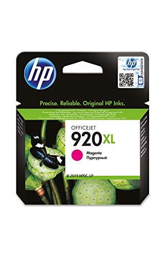 HP 920XL CD973AE, Magenta, Cartucho de Tinta de Alta Capacidad Original, compatible con impresoras de inyección de tinta HP Officejet Series 6000, 7000