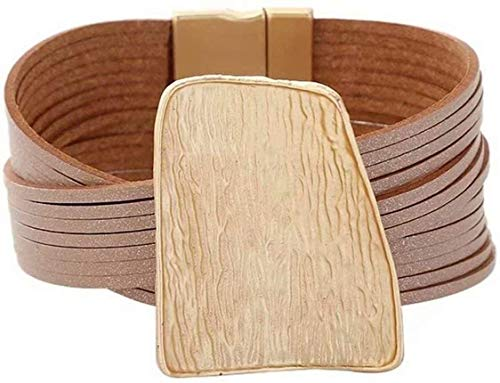gujiu Pandora bracelet Tribal bracelet Punk Leather Bracelet Wide Belt Leather Men Wristband Bracelet Unisex Couple