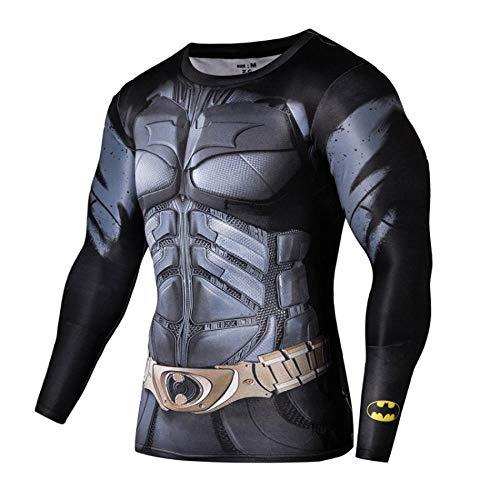 qulvyushangmaobu Superhero Compression Shirt Fitness Running Vêtements Gym Cycling Tight Tops Baselayer