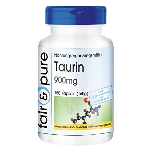 Taurina in capsule - Aminoacido Taurina 900mg - Vegan - 150 Capsule