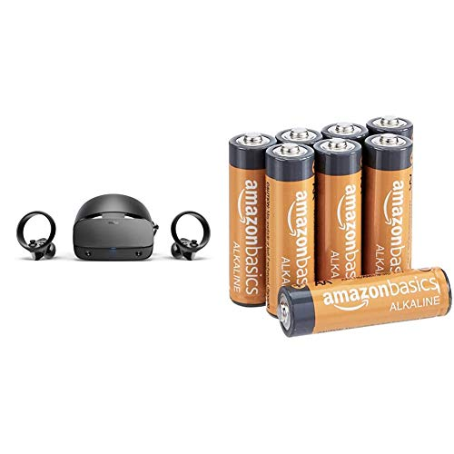 Oculus Rift S PC-Powered VR Gaming Headset & Amazon Basics AA 1.5 Volt Performance Alkaline Batteries - Pack of 8 (Appearance may vary)