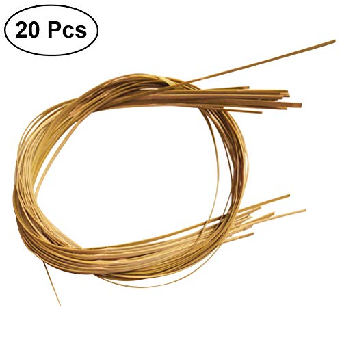 SUPVOX 20Pcs Bamboo Coil Basket Cane Flat Furniture Chair Basket Repair Binder Canes