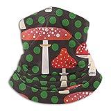 Towel&bag Bufanda de microfibra para el cuello, diseño de setas navideñas, para deportes al aire libre, color negro