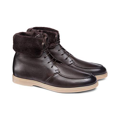 SANTONI Stiefel mit Schaffellhaar im Inneren, Dunkelbraun, Braun - braun - Größe: 43 EU