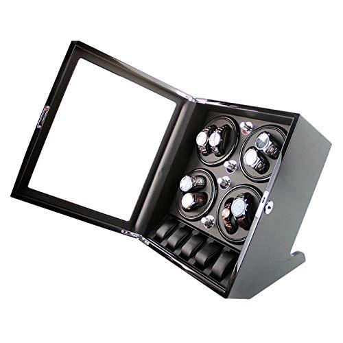 WENZHE Caja para Relojes Raya De Reloj Automático Universal, 8 + 5 Caja De Exhibición De Reloj De Lujo Motor Silencioso 5 Modos De Rotación(Color:B)