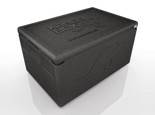 KÄNGABOX® boîte isotherme Professional PR1260. La boîte isotherme à l'étanchéité parfaite. La nouveauté mondiale: absolument étanche grâce à sa surface intérieure revêtue et son couvercle fermant parfaitement. dimension extérieure mm: 600x400x330, dimensions intérieure mm: 540x340x260, poids: 2,0 kg, contenu: 46 l.