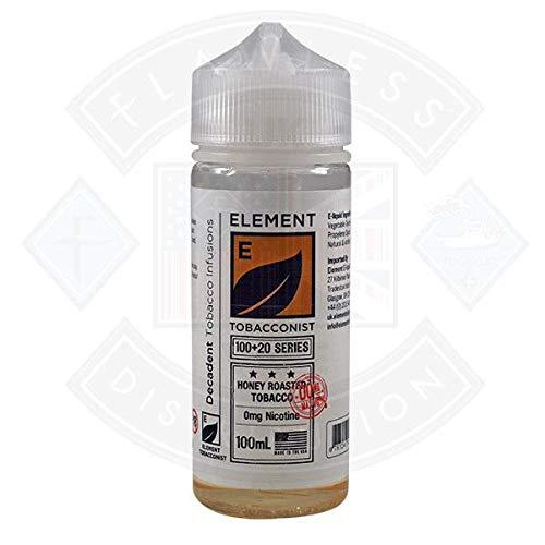 Element Tobacconist - Honey Roasted Tobacco - 100ml E Liquid, Nicotine Free