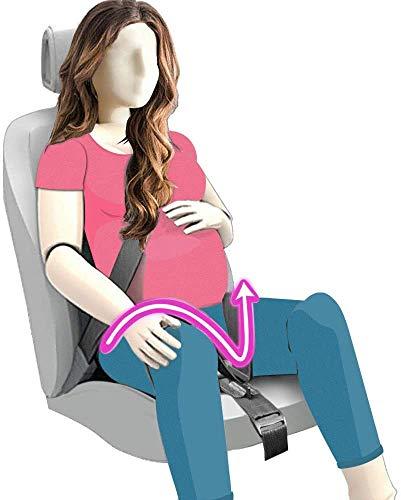 Ceinture de sécurité de grossesse, TUPSKY Ajusteur de ceinture de sécurité pour les femmes enceintes (Noir)