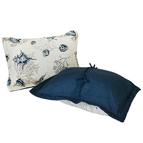 Bayside Bettdecken-Set, Strandmotiv, Tagesdecke, King Size Pillow Shams 2-Piece blau