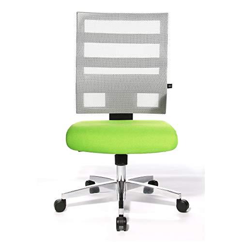 Topstar X-PANDER Bürodrehstuhl - zweifarbig, mit Netzrücken - weiß / apfelgrün -...
