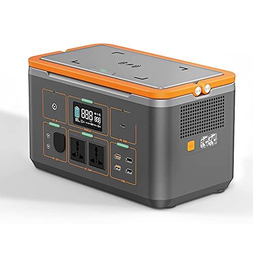 LJHSS Generador portátil Estación de energía Batería de Litio de Respaldo de Emergencia Inversor de energía silencioso sin Gas Carga USB/Generador Solar para Camping y Autocaravana