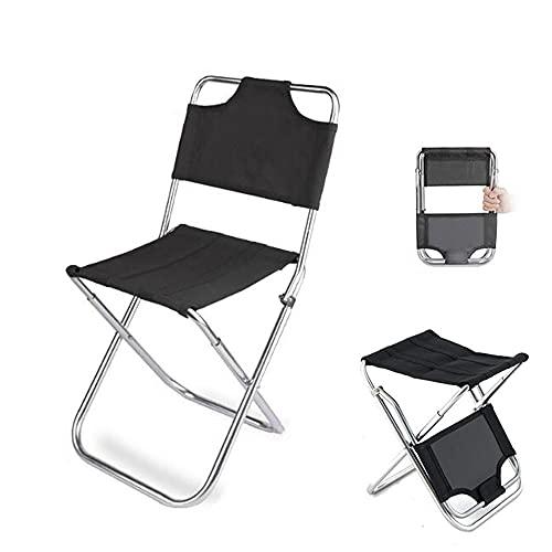 Silla plegable multifuncional al aire libre Silla de campamento portátil para adultos con bolsa de transporte taburete plegable fácil de desmontar respaldo sillas plegables para pesca barbacoa camping