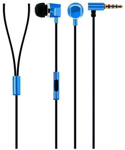 Schwaiger KH410B 531 In-Ear Kopfhörer (Slimkabel, Metallgehäuse) blau