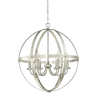 Westinghouse Lighting 6328300 Stella Mira Six-Light Indoor Chandelier, Brushed Nickel Finish, 6